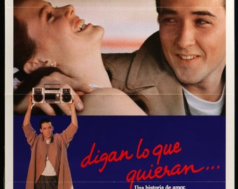 "Say Anything (1989) Vintage Spanish Movie Poster- 27""x 41"""