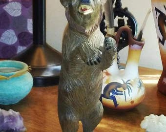Vintage Carved Bear Totem/ Native American Bear Totem/ Animal Totem