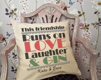 Personalised Cushion For Gin Lovers!