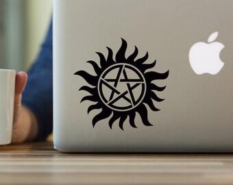 Supernatural Decal, Anti-Possession Tattoo, Supernatural, Anti-Possession Symbol, Anti-Possession Decal, Yeti tumbler decal
