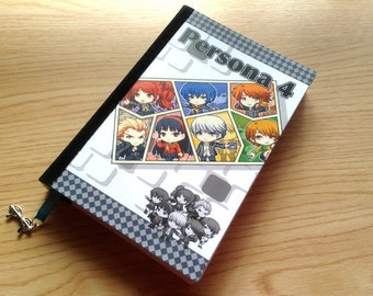 Persona 4 Journal, Persona 4 Notebook, A6 Journal, Anime Notebook, Anime Journal, Persona 4, Blank Notebook, A6 Notebook, gamer gift, anime