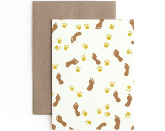 One With Dog Greeting Card / Made in Hawaii