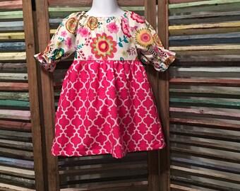 Girls peasant dress, Girls dress, Girls spring dress, Boho girl dress, Toddler dress,  Size 2T girls dress, Girls summer dress, #184