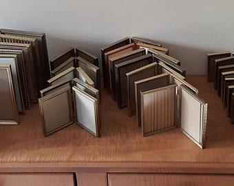 Double Gold Metal Picture Frames & 1 Silver Frame~Choice of Double Gold Metal Frames: Wallet (2x3) (3 1/2x4 1/2) (3 1/2x5) (4x5) (5x7)