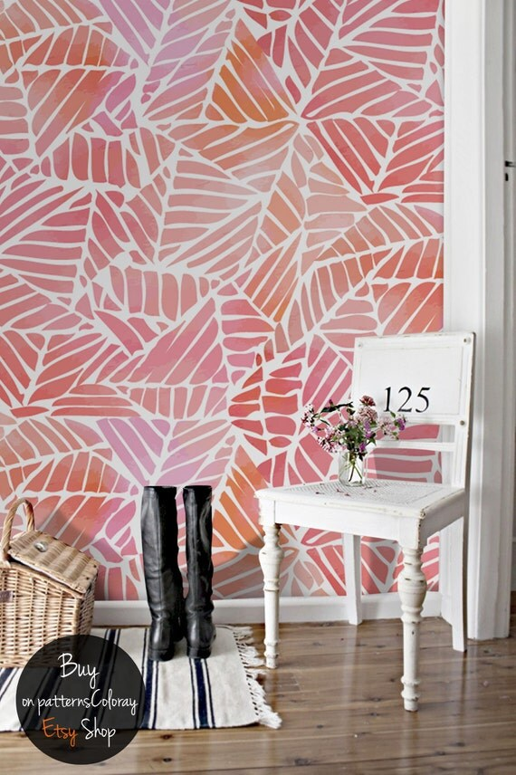 Abstract Watercolor Pattern Wallpaper Removable Wallpaper