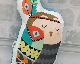 Owl Pillow, Stuffed Animal Pillow, Children Pillow, Cushion, Décor, Nursery, Baby Gift, Kids Room, Nap Pillow, Mid Century Modern