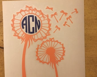 Dandelion Monogram Vinyl Decal
