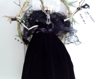 Handmade Pagan Wiccan 'BELTANE' Witchy Art Doll /Pentagram Home Wreath/Wall Hanging Goddess