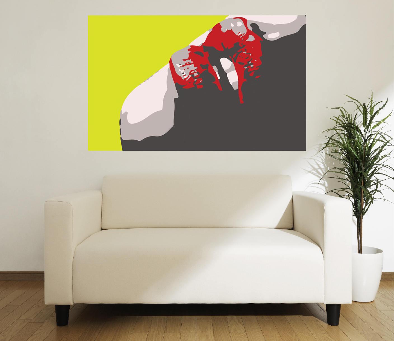 grande taille l vres pop art poster affiche r tro grand. Black Bedroom Furniture Sets. Home Design Ideas
