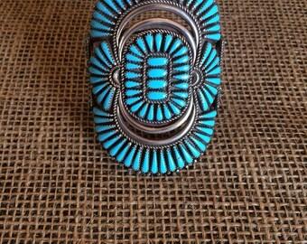 Turquoise Needlepoint Bracelet-024385-