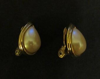 Pair of Monet Teardrop Earrings