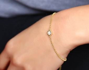 Silver Chain Bracelet, Birthstone Bracelet, Bridesmaid Bracelet, Custom Bracelet, Bracelet For Bridesmaids, Dainty Bracelet, Silver Bracelet