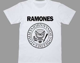 Ramones Shirt Punk T-shirt Hard Rock Tee Drawing Tshirt T