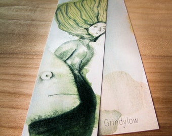 Illustrated Bookmark - Grindylow