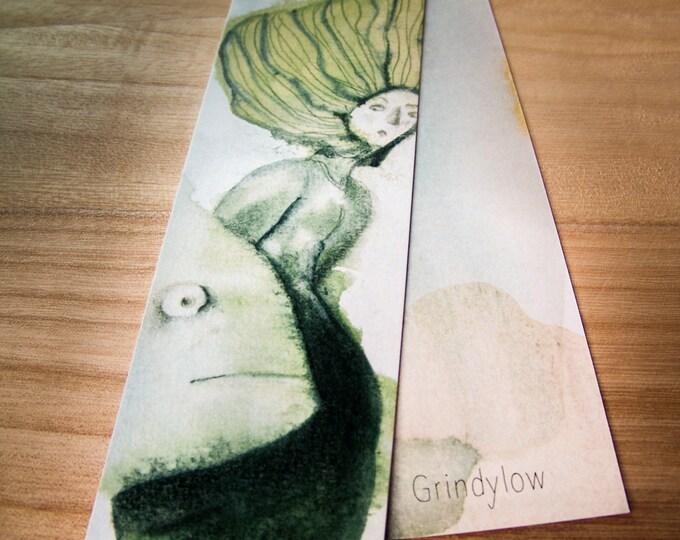 Illustrated Bookmark - Grindylow