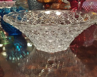 Antique EAPG Serving Bowl - Daisy and Button by Hobbs Brockunier