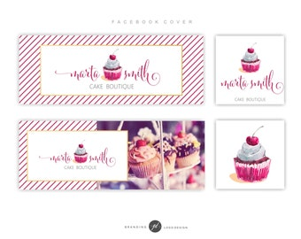 Matching Facebook Timeline Cover and Profile Picture for Premade Logo Design, Add On, Custom Facebook page, Facebook Marketing package