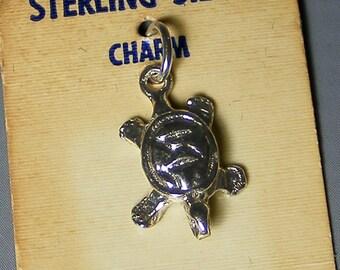 Vintage Sterling Silver Charm Turtle / Tortoise Free UK Postage