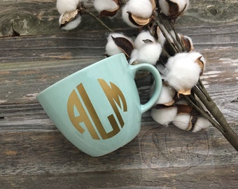 Monogramed Personalized Coffee Cup