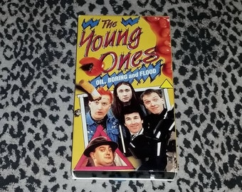 The Young Ones [VHS] Oil, Boring, and Flood BBC Series British Comedy TV Show Punk Goth Hippie Comedy Vhs Tape rare Three Full Episodes