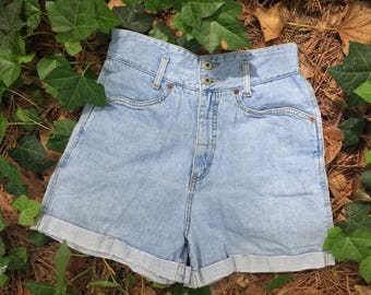 Vintage 90s Grass Raggs High Rise/Waisted Jean Shorts