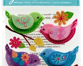Stiched Bird Stickers