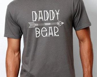 daddy bear shirt (white design), daddy bear shirt, father gift, dad gift