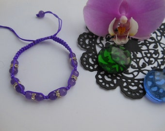 Bracelet every day  Minimum bracelet Purple bracelet Beaded bracelet Macrame bracelet Jewelry bracelet Small bracelet Tiny bracelet