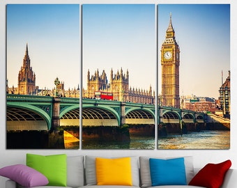 Westminster Bridge Big Ben London City London Canvas London Art London Skyline London Photo London Poster London wall art London Print