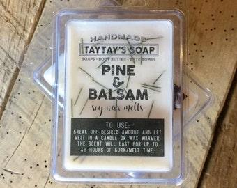 SALE! Soy Wax Melts -Balsam Wax Melts -Pine Wax Melt- Christmas Soy Wax - Hand Poured Wax - Candle Warmer - Taytayssoap - Wax Melt - Candles