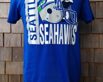 Vintage 80s SEATTLE SEAHAWKS T Shirt - Medium