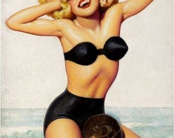 Vintage Pin Up Girl 1616 Pinup Poster  A3 Print