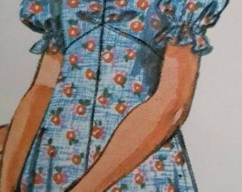 1974 Simplicity 6538 Girls Mini or Maxi Dress Size 7 Uncut FF Sewing Pattern ReTrO GrOOvy!