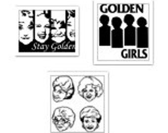 The Golden Girls Dorothy, Sophia, Blanche, Rose Decal Lot SVG Cut Files Instant Download