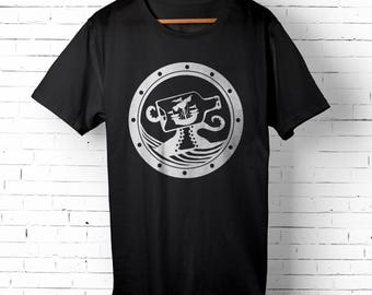 Octopus T-shirt for Men - Kraken Shirt - Beach Bum Tee for Him - Ship Porthole T-shirt - Ship in a Bottle Shirt - Summertime Tee