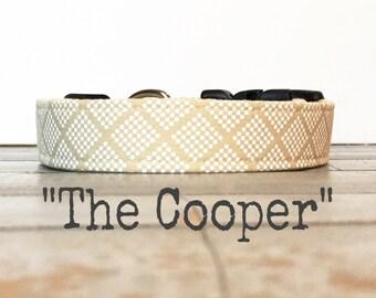 DOG COLLAR, The Cooper, Dog Collar for Girls, Dog Collar for Boys, Wedding, Classic Dog Collar