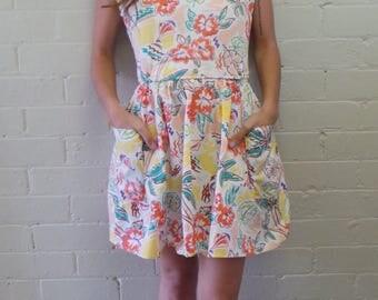 Detachable Floral Dress