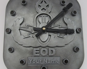 EOD Wall Clock with Name Insert