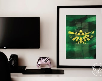 Zelda Print - Triforce | A6/A5/A4/A3 Illustration Print | Zelda Poster | For Him, For Her