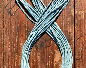 "100 Leather Laces 9/64"" X 72"" Sky Blue"