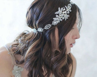 Crystal & Pearl Bridal Headband/Pageant/Tiara BH1009i