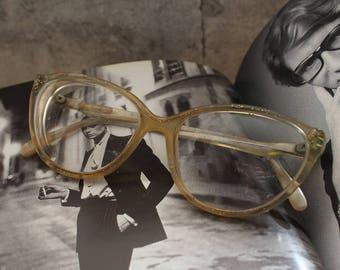Glitter Vintage Cat Eye Glasses Frame, Vintage Cateye Glasses, Vintage Glasses Frame, Cat Eye Frames, Prescription Glasses