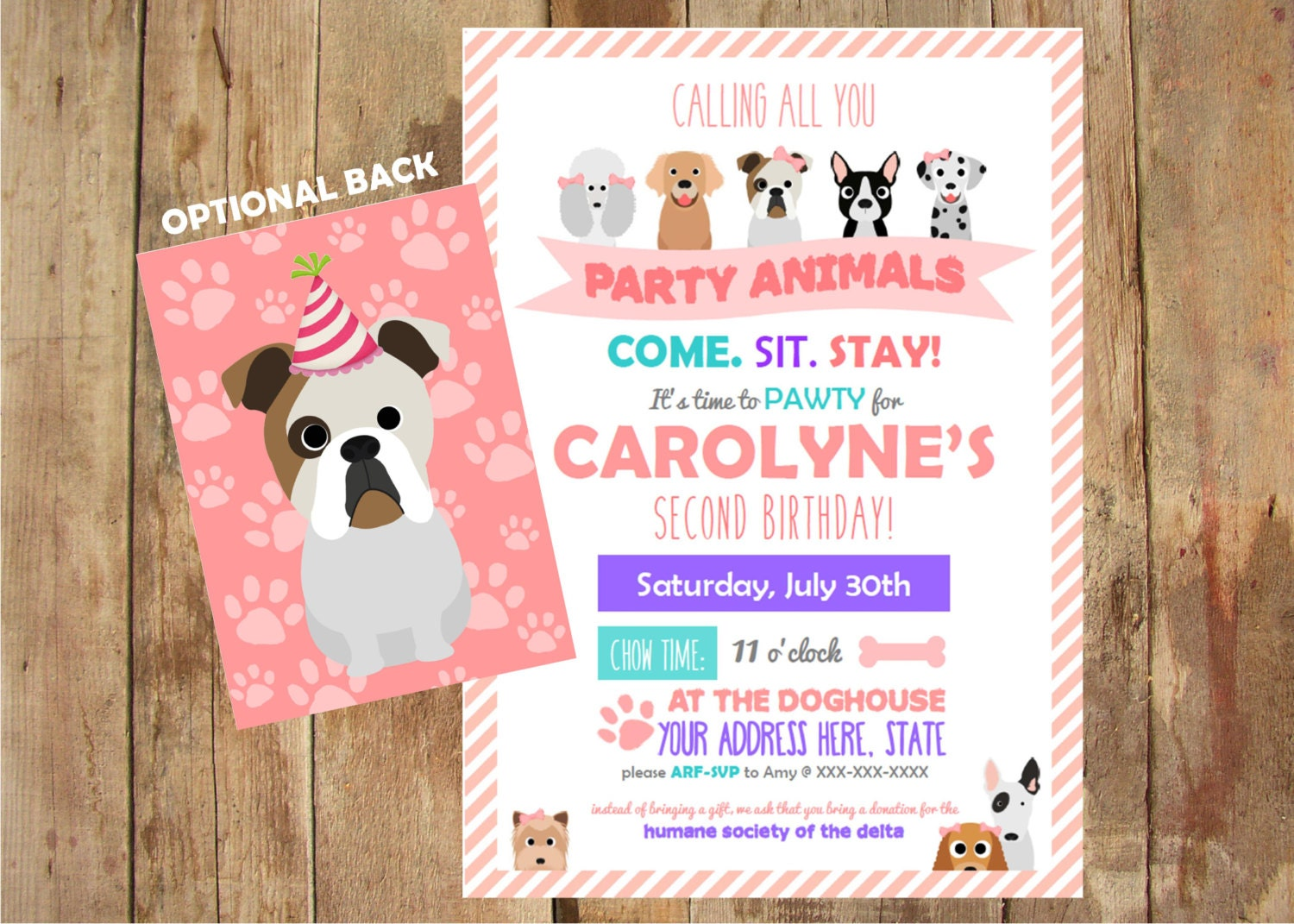 Puppy Party Invitations Come Sit Stay Personalized – Puppy Party Invitation