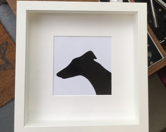 Vinyl Picture - Record silhouette of a Grey Hound