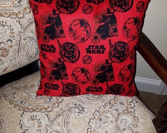 """Star Wars Return of the Jedi Red (Vader Stormtrooper Boba Fett) 16"""" x 16"""" Decorative Throw Pillow (with Insert)"""