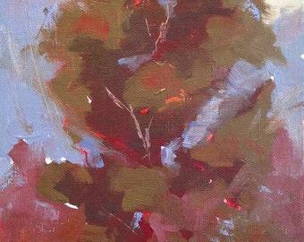 Standing Tall, Original Landscape Oil Painting by René, Fine Art Paintings, Tree Painting, Wall Art, Original Art