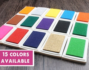 Craft Ink Pad, Colorful Inkpad, Multi- Color Craft Inkpad, Stamp Pad, Clear Stamp, Korean Inkpad, diy Deco Stamp, 15 Colors Available
