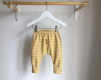Bio pants, harem pants-Elvelyckan gold on the line