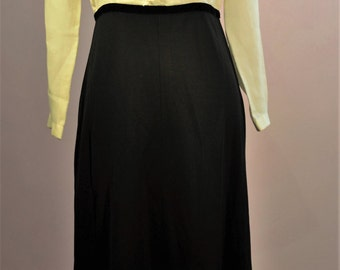 Mothers day gift 1960's dress suit with frill detail to front. retro Blouse and skirt Great for the office