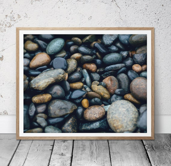 Rock Wall Home Decor : Rock wall art print home decor nature